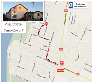 directions to Vila Uosis
